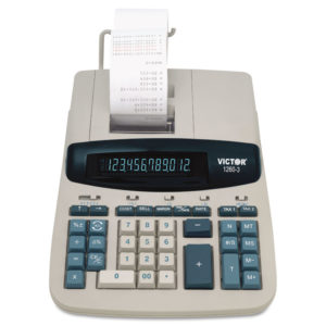 Victor® 1260-3 Extra Heavy-Duty Printing Calculator
