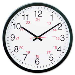 Universal® 24-Hour Round Wall Clock