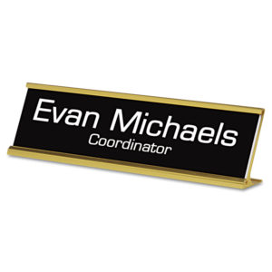 Identity Group Engraved Desk/Counter Sign
