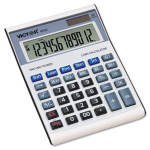 Victor® 6500 Executive Desktop Loan Calculator