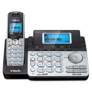 Vtech® DS6151 Two-Line Expandable Cordless Phone with Answering System