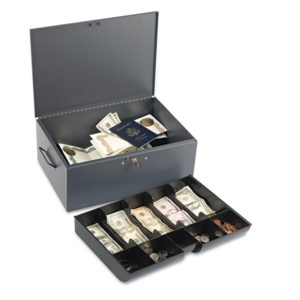 SteelMaster® Extra Large Cash Box with Handles