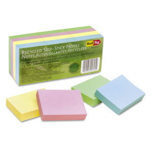 Redi-Tag® 100% Recycled Self-Stick Notes