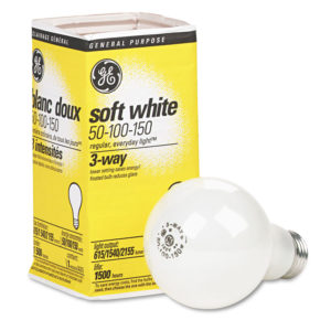 GE Incandescent SW 3-Way A21 Light Bulb
