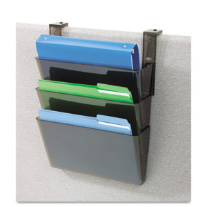 deflecto® DocuPocket® Three-Pocket File Partition Set with Brackets