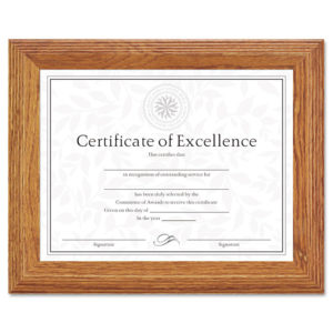 DAX® Stepped Solid Wood Document/Certificate Frame