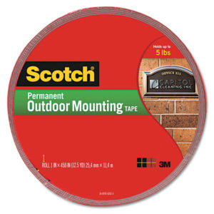 Scotch® Permanent Heavy Duty Interior/Exterior Mounting Tape