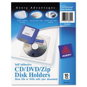Avery® Self-Adhesive Media Pockets
