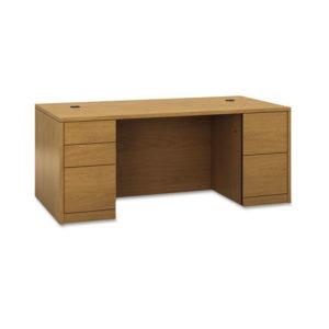 HON® 10500 Series™ Double Pedestal Desk with Full Pedestals