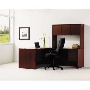 "HON® 10500 Series™ ""L"" Workstation Return with 3/4-Height Pedestal"