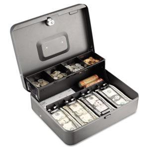 SteelMaster® Tiered Cash Box with Bill Weights