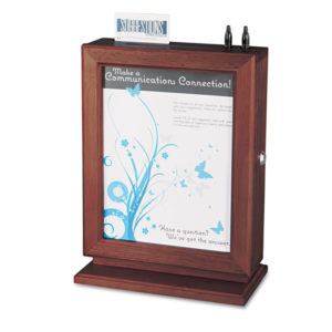 Safco® Customizable Wood Suggestion Box