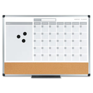 MasterVision® 3-in-1 Planner Board
