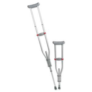 Medline Quick Fit Push Button Aluminum Crutches