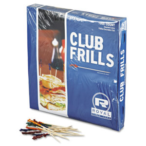 Royal Cellophane-Frill Wood Picks