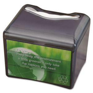 San Jamar® Venue™ Napkin Dispenser with Advertising Inset
