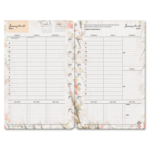 FranklinCovey® Blooms® Dated Weekly/Monthly Planner Refill