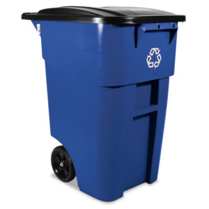 Rubbermaid® Commercial Square Brute® Recycling Rollout Container