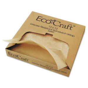 Bagcraft EcoCraft® Grease-Resistant Paper Wrap & Liner