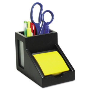 Victor® Midnight Black Collection™ Pencil Cup with Note Holder