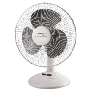 Lakewood Three-Speed Oscillating Desk Fan