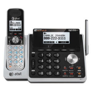 AT&T® TL88102 Cordless Two-Line Digital Answering System
