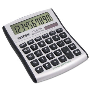 Victor® 1100-3A Antimicrobial Compact Desktop Calculator