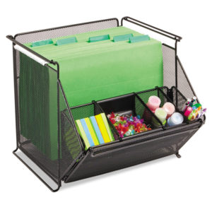 Safco® Onyx Stackable Mesh Storage Bin