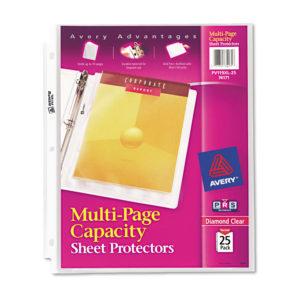 Avery® Multi-Page Capacity Heavyweight Diamond Clear Sheet Protector