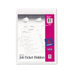 Avery® Heavyweight Clear Job Ticket Holder