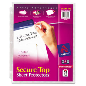 Avery® Secure Top™ Super Heavyweight Diamond Clear Sheet Protector