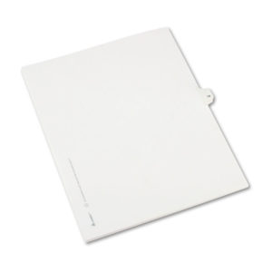 Avery® Preprinted Legal Exhibit Index Tab Dividers with Black and White Tabs