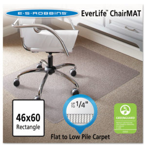 ES Robbins® EverLife® Light Use Chair Mat for Flat Pile Carpet