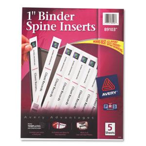 Avery® Binder Spine Inserts