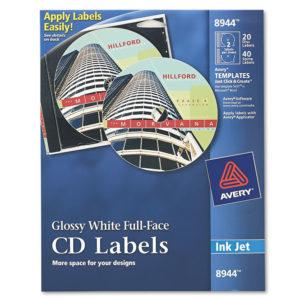 Avery® Inkjet Full Face CD Labels