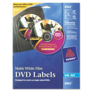 Avery® Inkjet DVD Labels