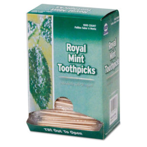 Royal Cello-Wrapped Round Wood Toothpicks