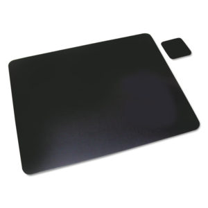 Artistic® Leather Desk Pad with Coaster