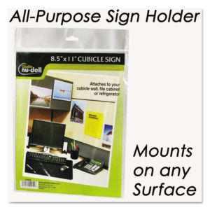 NuDell™ Clear Plastic Sign Holders