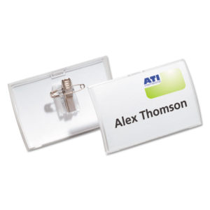 Durable® Click-Fold® Convex Name Badge Holders