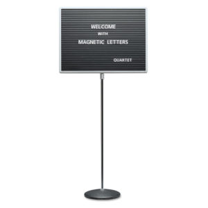 Quartet® Adjustable Single-Pedestal Magnetic Letter Board