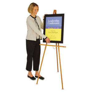 Quartet® Tripod Wood Floor Easel