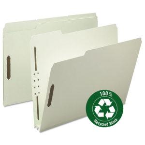 Smead® 100% Recycled Pressboard Fastener Folders