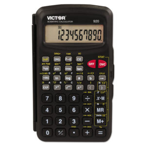 Victor® 920 Compact Scientific Calculator with Hinged Case