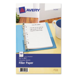 Avery® Mini Size Binder Filler Paper