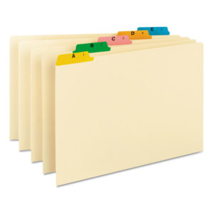 Smead® Alphabetic Top Tab Indexed File Guide Set