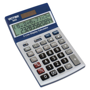 Victor® 9800 2-Line Easy Check™ Display Calculator