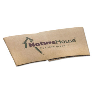 NatureHouse® Unbleached Paper Hot Cup Sleeves