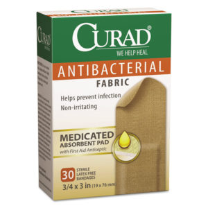 Curad® Flex Fabric Antibacterial Bandages