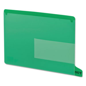 Smead® Colored Poly Out Guides with Pockets